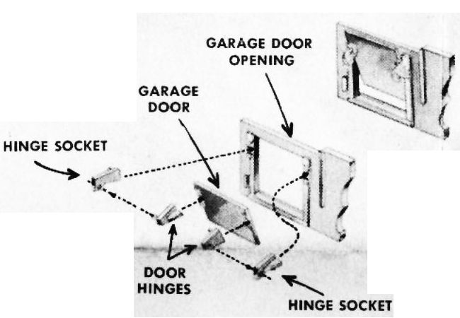 Figure #1 Colonial House Colonial House Garage Door Wall Assembly Hinges Sockets