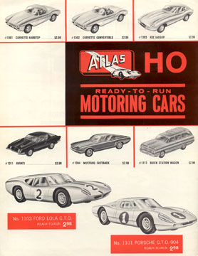 Atlas HO Scale Slot Car 10 Cent Catalog Page Two