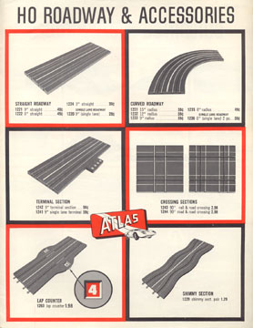 Atlas HO Scale Slot Car 10 Cent Catalog Page Five