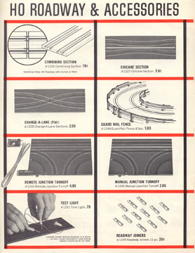 Atlas HO Scale Slot Car 10 Cent Catalog Page Four