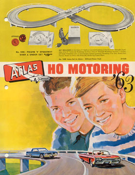 Atlas 1963 Slot Car Flyer Page One