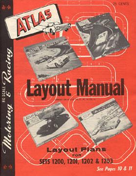Atlas 1964 Slot Car Layout Manual Page One