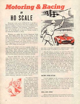 Atlas 1964 Slot Car Layout Manual Page Two