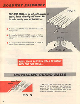 Atlas 1964 Slot Car Layout Manual Page Four