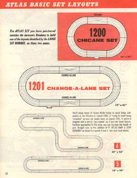 Atlas 1964 Slot Car Layout Manual Page Ten