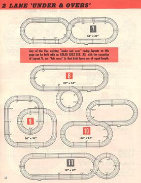 Atlas 1964 Slot Car Layout Manual Page Twelve