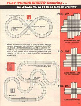 Atlas 1964 Slot Car Layout Manual Page Thirteen