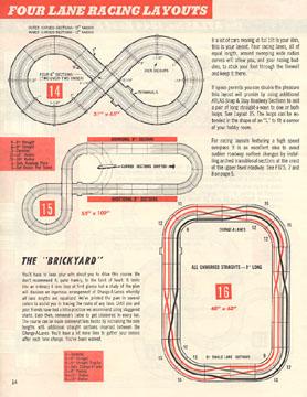 Atlas 1964 Slot Car Layout Manual Page Fourteen