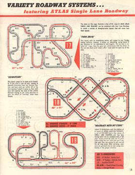 Atlas 1964 Slot Car Layout Manual Page Fifteen