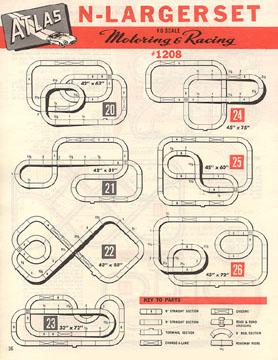 Atlas 1964 Slot Car Layout Manual Page Sixteen