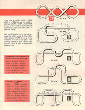 Atlas 1964 Slot Car Layout Manual Page Seventeen