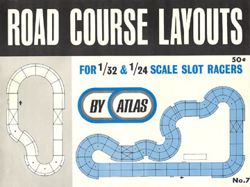 Atlas 1966 Slot Car Road Course Layout Manual Page One