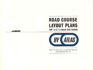 Atlas 1966 Slot Car Road Course Layout Manual Page Three