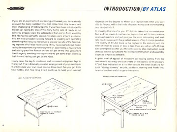 Atlas 1966 Slot Car Road Course Layout Manual Page Six