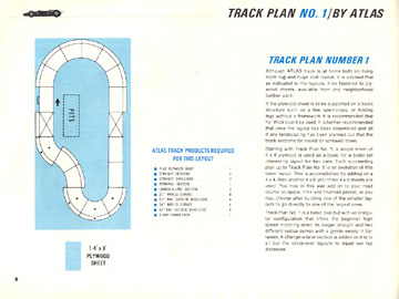 Atlas 1966 Slot Car Road Course Layout Manual Page Eight
