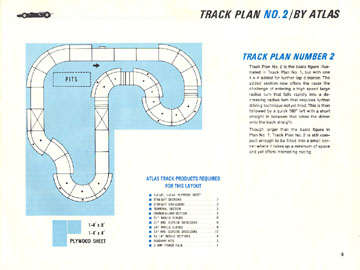 Atlas 1966 Slot Car Road Course Layout Manual Page Nine
