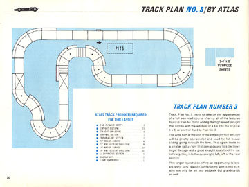 Atlas 1966 Slot Car Road Course Layout Manual Page Ten
