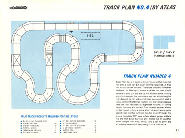 Atlas 1966 Slot Car Road Course Layout Manual Page Eleven