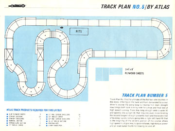 Atlas 1966 Slot Car Road Course Layout Manual Page Twelve