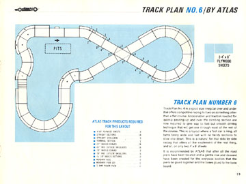 Atlas 1966 Slot Car Road Course Layout Manual Page Thirteen