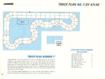 Atlas 1966 Slot Car Road Course Layout Manual Page Fourteen