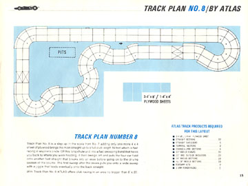Atlas 1966 Slot Car Road Course Layout Manual Page Fifteen