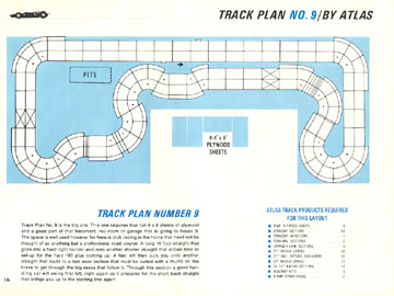 Atlas 1966 Slot Car Road Course Layout Manual Page Sixteen