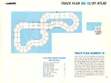 Atlas 1966 Slot Car Road Course Layout Manual Page Seventeen