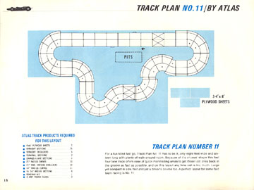 Atlas 1966 Slot Car Road Course Layout Manual Page Eighteen