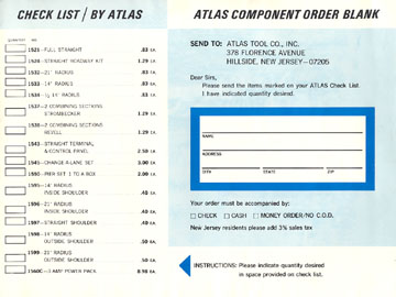 Atlas 1966 Slot Car Road Course Layout Manual Page Twenty One