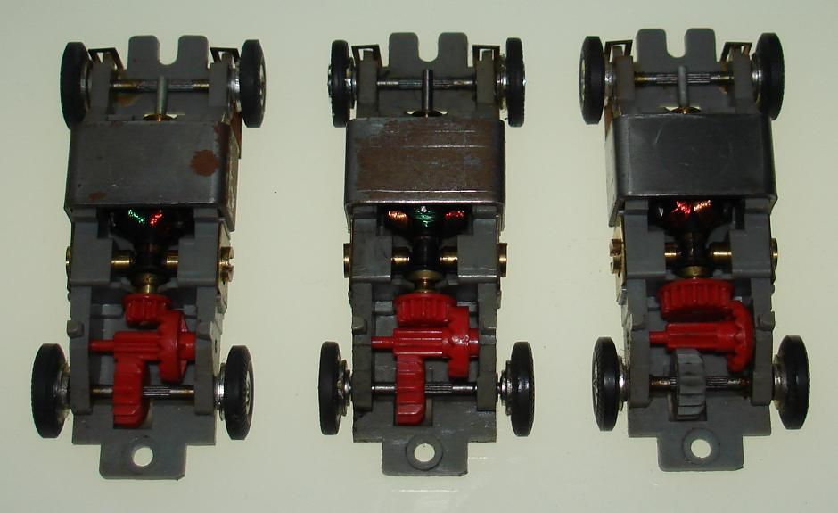 Atlas HO Scale Slot Car Slimline Gears Comparison
