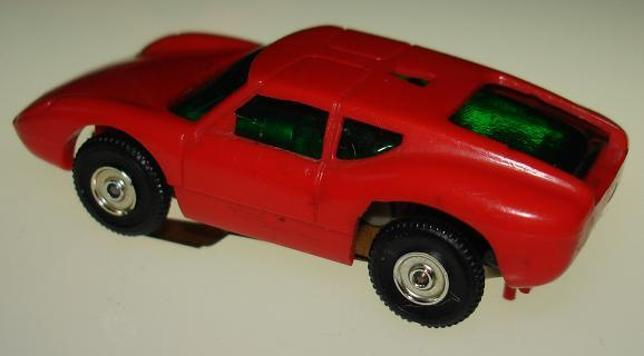 Atlas Aurora HO Scale Ford Lola Comparison Body Rear View