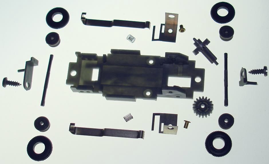 Atlas HO Scale Slot Car Chassis Exploded View