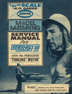 1963 Aurora Model Motoring Thunderjet 500 Service Manual Page 01