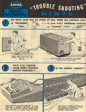 1963 Aurora Model Motoring Thunderjet 500 Service Manual Page 08