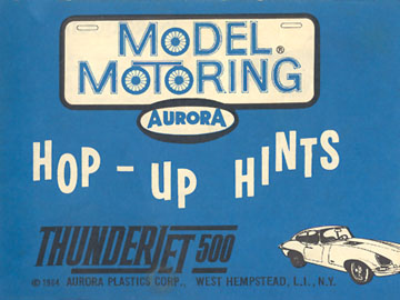 Aurora Model Motoring Thunderjet 500 Hop Up Hints Front Cover