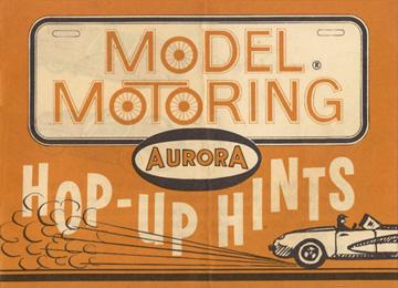 1962 Aurora Model Motoring Vibrator Slot Car Hop Up Hints Page 01