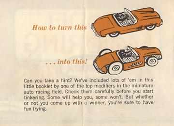 1962 Aurora Model Motoring Vibrator Slot Car Hop Up Hints Page 02