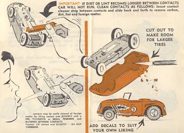 1962 Aurora Model Motoring Vibrator Slot Car Hop Up Hints Page 06