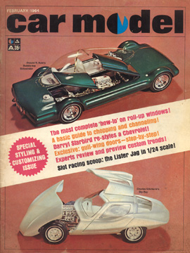 Car Model February 1964 Vintage Slot Car Racing Magazine