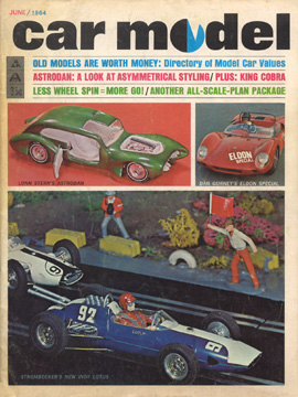 Car Model June 1964 Vintage Slot Car Racing Magazine