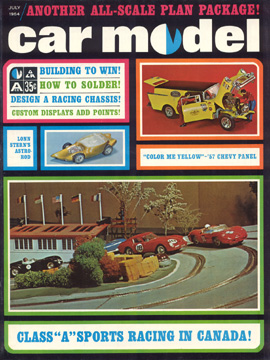 Car Model July 1964 Vintage Slot Car Racing Magazine