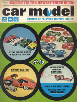 Car Model August 1964 Vintage Slot Car Racing Magazine