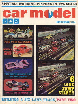 Car Model September 1964 Vintage Slot Car Racing Magazine