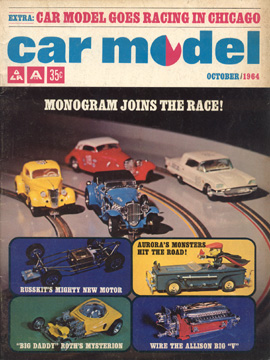 Car Model October 1964 Vintage Slot Car Racing Magazine