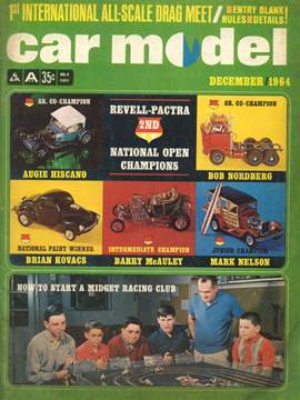 Car Model December 1964 Vintage Slot Car Racing Magazine