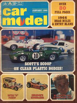 Car Model January 1966 Vintage Slot Car Racing Magazine