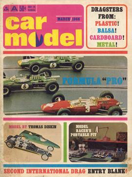 Car Model March 1966 Vintage Slot Car Racing Magazine