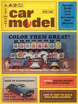 Car Model May 1966 Vintage Slot Car Racing Magazine