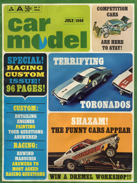 Car Model July 1966 Vintage Slot Car Racing Magazine